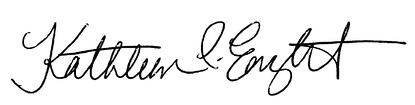Signature Kathleen Enright